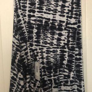 NWT LuLaRoe Maxi Black and White Tie Dye
